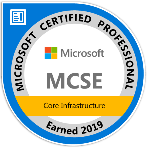 mcse-core-infrastructure-certified-2019